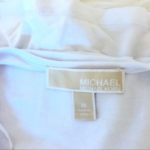 Michael Kors Tops - Michael Kors Tunic with Chain Neck Tie Detail